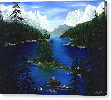 Mountain Lake Canada Canvas Print by Patrick Witz