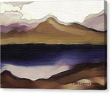 Nature Scene Canvas Print - Mountain Lake by Lenore Senior and Constance Widen