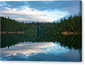 Mountain Lake Reflection Canvas Print by Crystal Hoeveler
