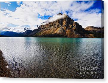 Mountain Lake Scenic Canvas Print by George Oze