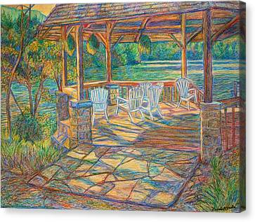 Mountain Lake Shadows Canvas Print by Kendall Kessler