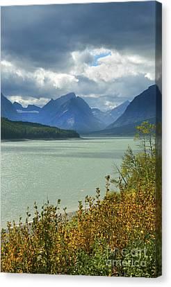 Mountain Lake With Stormy Skies Canvas Print by Jill Battaglia