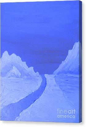 Mountain Landscape Blues Canvas Print