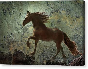 Mountain Majesty Canvas Print by Melinda Hughes-Berland
