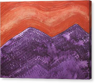 Mountain Majesty Original Painting Canvas Print