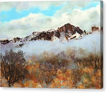 Mountain Mist Canvas Print by M Diane Bonaparte