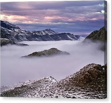 Mountain Moods Canvas Print by Leland D Howard