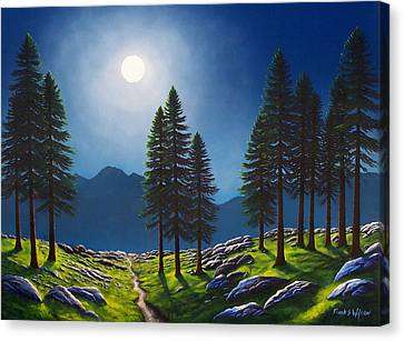Mountain Moonglow Canvas Print by Frank Wilson