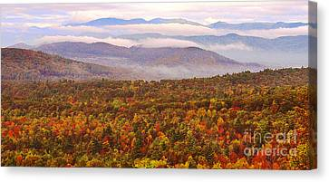 Mountain Mornin' In Autumn Canvas Print by Lydia Holly