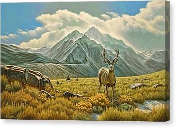 Mule Deer Canvas Print - Mountain Muley by Paul Krapf