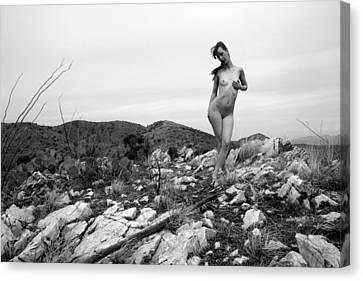 Nudes Canvas Print - Mountain Nymph by Joe Kozlowski