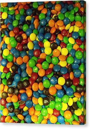Canvas Print - Mountain Of M And M's by Anna Villarreal Garbis