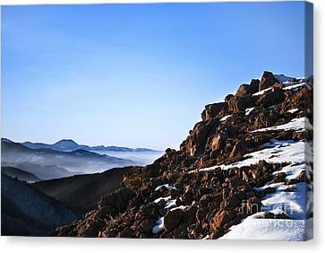 Mountain Peak Canvas Print by Jelena Jovanovic