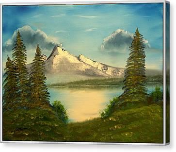 Mountain Pond Canvas Print by Joyce Krenson