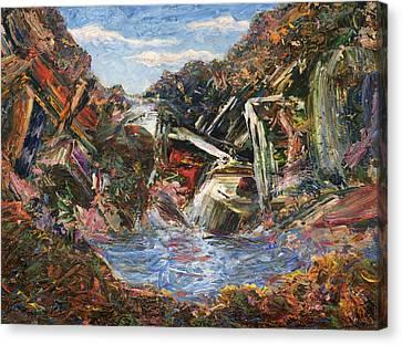Mountain Pool Canvas Print by James W Johnson