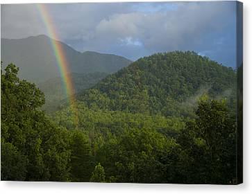 Mountain Rainbow 2 Canvas Print by Larry Bohlin