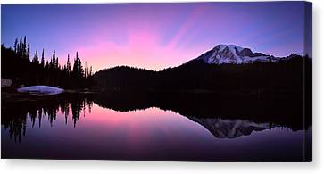 Pfeiffer Canvas Print - Mountain Rainier Reflection Lake by Emmanuel Panagiotakis