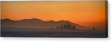 Mountain Range At Dusk, San Gabriel Canvas Print by Panoramic Images