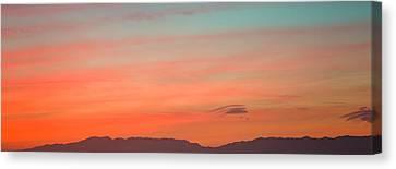 Mountain Range At Dusk, Santa Monica Canvas Print by Panoramic Images