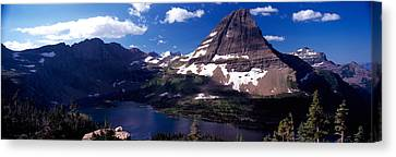 Mountain Range At The Lakeside, Bearhat Canvas Print by Panoramic Images