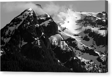 Mountain Range Black And White Two Canvas Print by Diane Rada