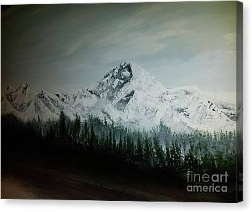 Mountain Range Canvas Print by Pheonix Creations