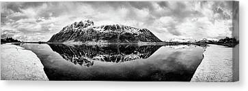 Mountain Reflection Canvas Print by Dave Bowman
