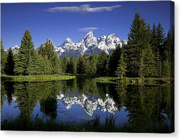 Teton Canvas Print - Mountain Reflections by Andrew Soundarajan