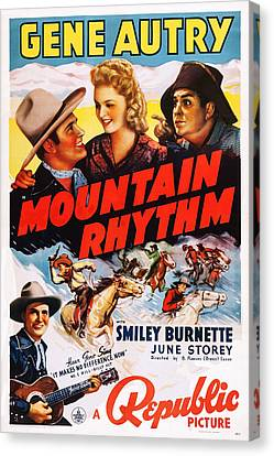 Mountain Rhythm, Top L-r Gene Autry Canvas Print