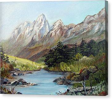 Mountain River Canvas Print by Dorothy Maier