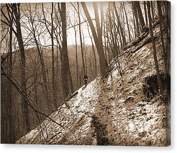 Mountain Side Canvas Print by Melinda Fawver