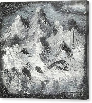 Mountain Snow Life Canvas Print