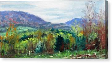 Mountain Spring- Virginia Mountains In Springtime Canvas Print by Bonnie Mason