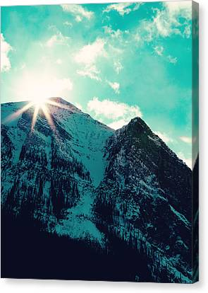 Mountain Starburst Canvas Print by Kim Fearheiley