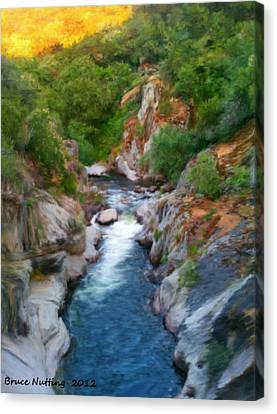 Canvas Print featuring the painting Mountain Stream by Bruce Nutting