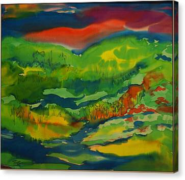 Canvas Print featuring the painting Mountain Streams by Susan D Moody