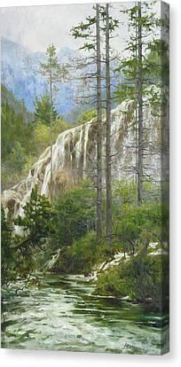 Mountain Streams Canvas Print by Victoria Kharchenko