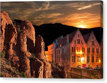 Mountain Sunset Canvas Print by Fred Larson