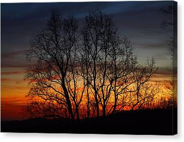 Canvas Print featuring the photograph Mountain Sunset by Kathryn Meyer