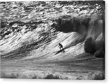 Mountain Surfer Canvas Print by Sean Davey