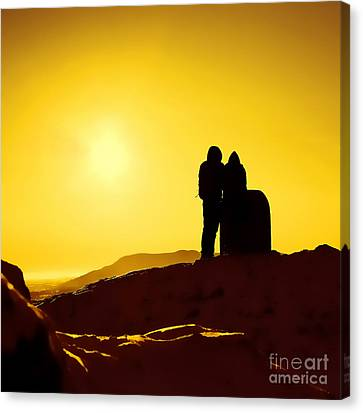 Canvas Print featuring the photograph Mountain Top Sunset by Craig B