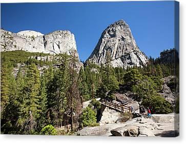 Mountain Trail And Bridge Canvas Print