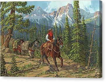 Mountain Traveler Canvas Print by Randy Follis