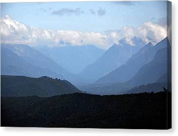 Mountain Valley Canvas Print by Kirt Tisdale