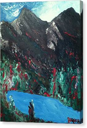 Canvas Print featuring the painting Mountain View by Darlene Berger