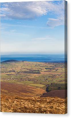 Mountain View From Djouce Mountain Towards Greystones Canvas Print