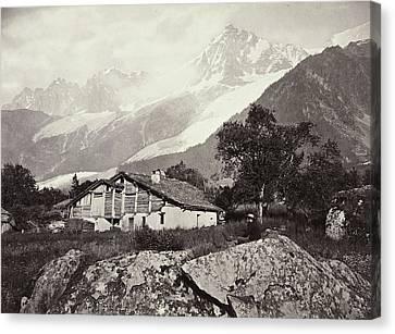 Mountain View In Switzerland, William England Canvas Print by Artokoloro
