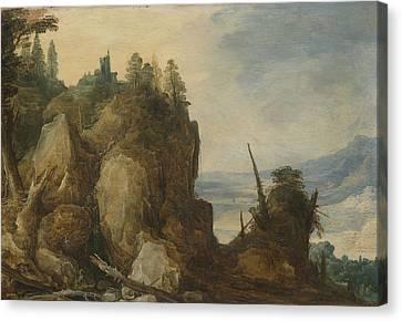 Mountain View, Joos De Momper II Canvas Print by Litz Collection