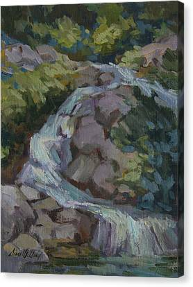 Mountain Waterfall Canvas Print by Diane McClary