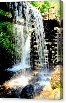 Grist Mill Canvas Print - Mountain Waters by Karen Wiles